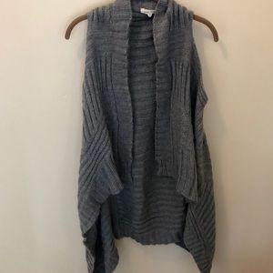 Pink Rose Gray Sweater Vest